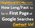 how long fast to be in first pages of google searches